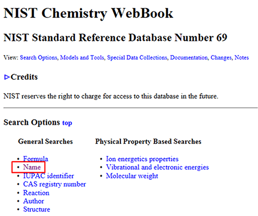 NIST Chemistry WebBook