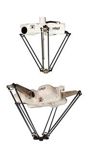 Omron Adept Hornet 565 parallel robot, Omron Adept Quattro parallel robot