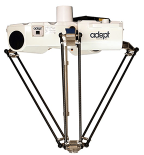 Omron Adept Hornet 565 parallel robot silhouette photo