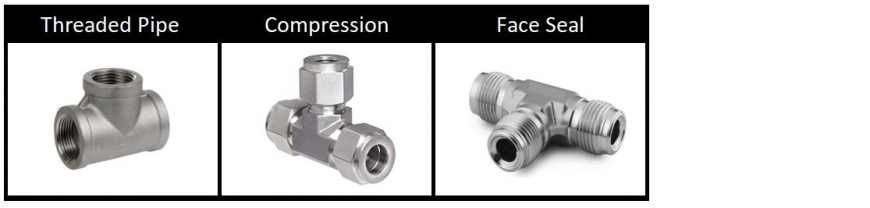 Fittings: NPT to compression to Face Seal