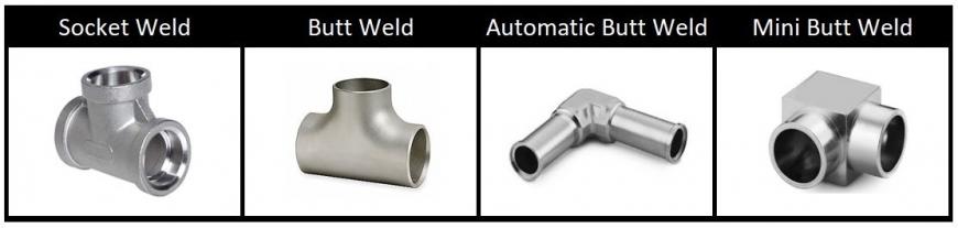 Weld Fittings: Socket Weld to Butt Weld to Mini/Micro Weld
