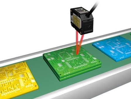 Displacement Sensor Application - Detection of Stacked PCBs