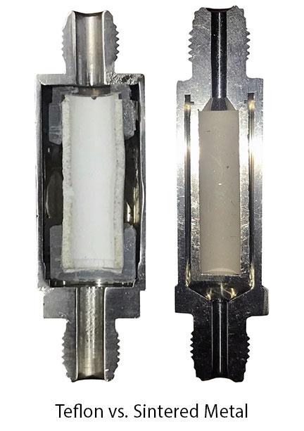 Teflon vs. Sintered Metal Filters
