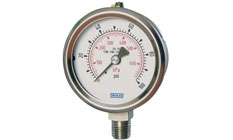 WIKA Bourdon Tube Pressure Gauge Models 233.53 and 232.53